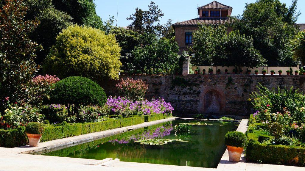 miniatura de un jardin arabe