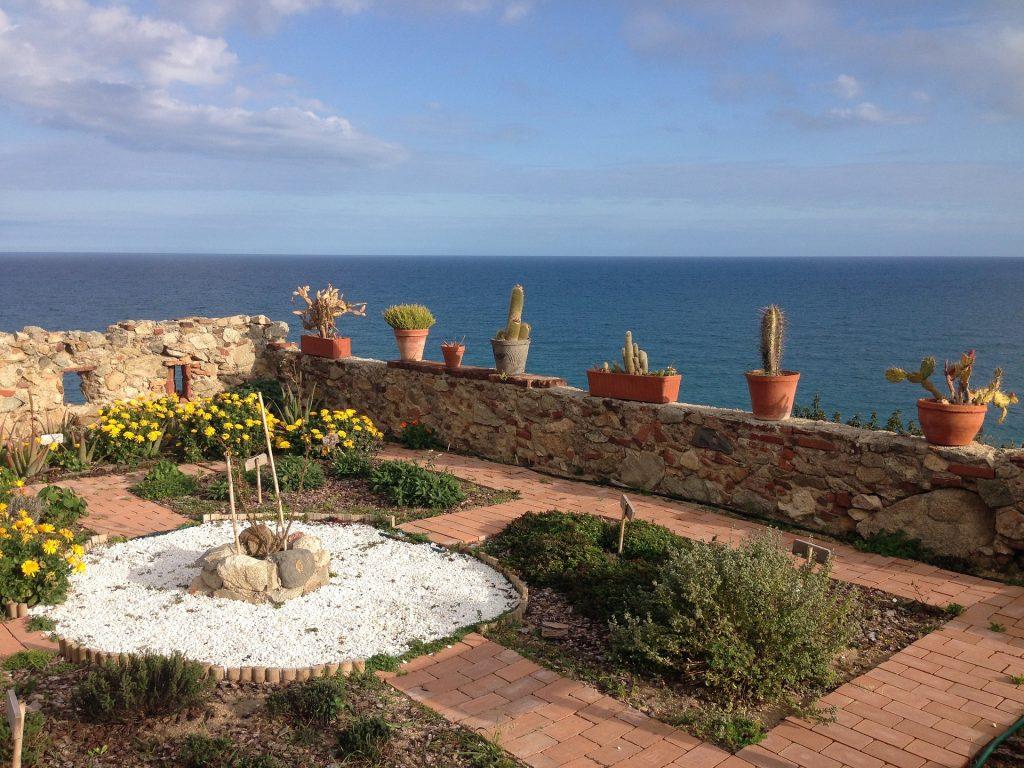 vista de un jardin mediterraneo